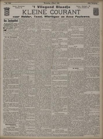 Vliegend blaadje : nieuws- en advertentiebode voor Den Helder 1909-03-03