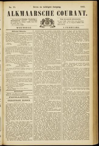 Alkmaarsche Courant 1885-02-04