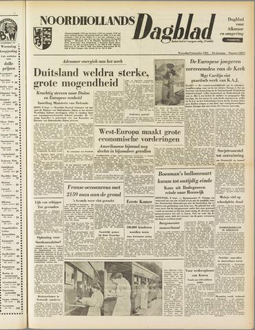 Noordhollands Dagblad : dagblad voor Alkmaar en omgeving 1953-09-09