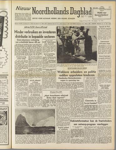 Nieuw Noordhollandsch Dagblad : voor Alkmaar en omgeving 1951-02-23