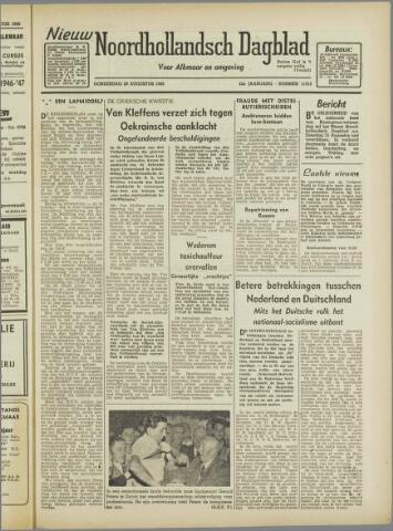 Nieuw Noordhollandsch Dagblad : voor Alkmaar en omgeving 1946-08-29