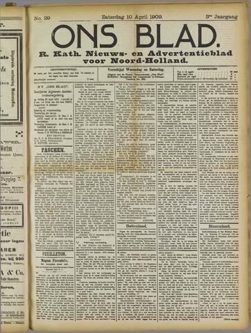 Ons Blad : katholiek nieuwsblad voor N-H 1909-04-10