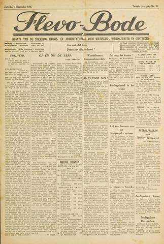 Flevo-bode: nieuwsblad voor Wieringen-Wieringermeer 1947-11-01