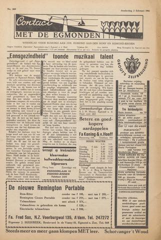 Contact met de Egmonden 1961-02-02