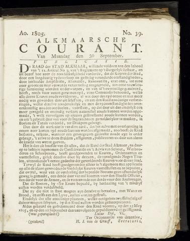 Alkmaarsche Courant 1805-09-30