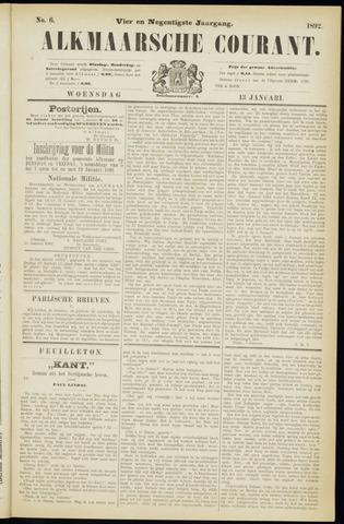 Alkmaarsche Courant 1892-01-13