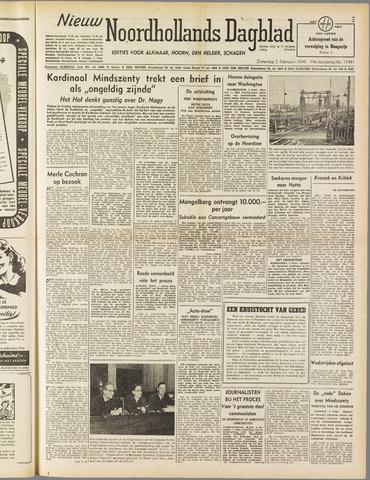 Nieuw Noordhollandsch Dagblad : voor Alkmaar en omgeving 1949-02-05
