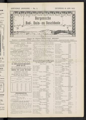 Bergensche bad-, duin- en boschbode 1922-06-10