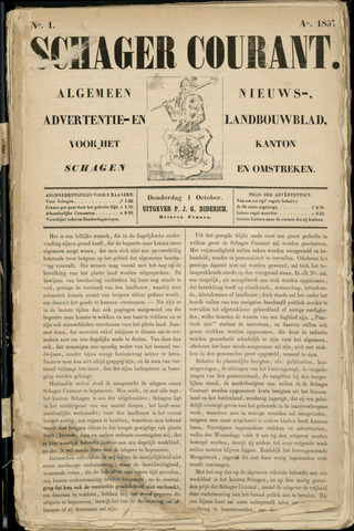 Schager Courant 1857