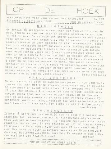 Op De Hoek, weekblad voor Akersloot 1960-09-17