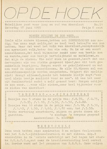 Op De Hoek, weekblad voor Akersloot 1955-06-18