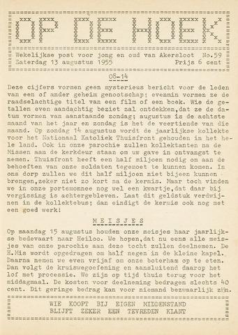 Op De Hoek, weekblad voor Akersloot 1955-08-13