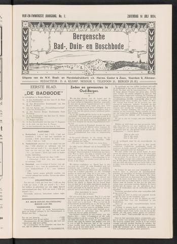 Bergensche bad-, duin- en boschbode 1934-07-14