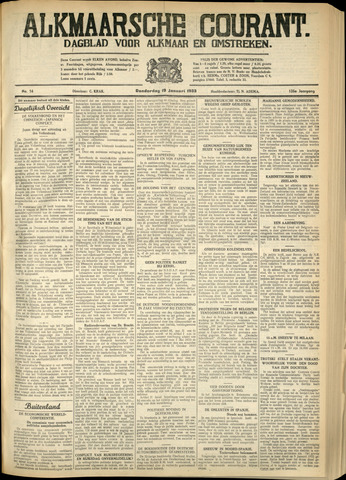 Alkmaarsche Courant 1933-01-19