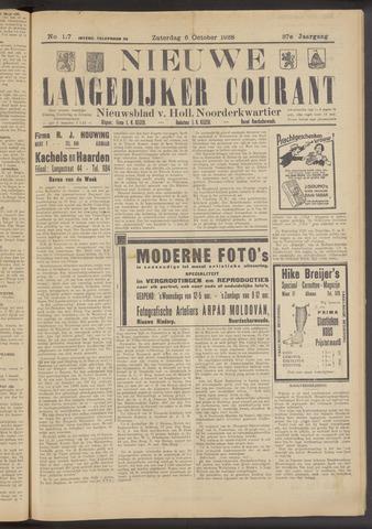 Nieuwe Langedijker Courant 1928-10-06