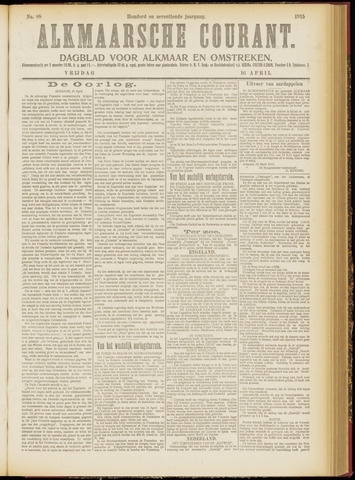 Alkmaarsche Courant 1915-04-16
