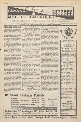 Contact met de Egmonden 1962-07-05