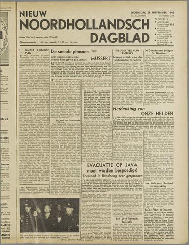 Nieuw Noordhollandsch Dagblad : voor Alkmaar en omgeving 1945-11-28