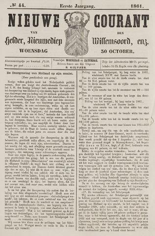Nieuwe Courant van Den Helder 1861-10-30