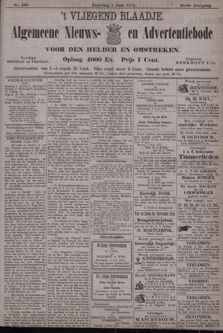 Vliegend blaadje : nieuws- en advertentiebode voor Den Helder 1875-06-05