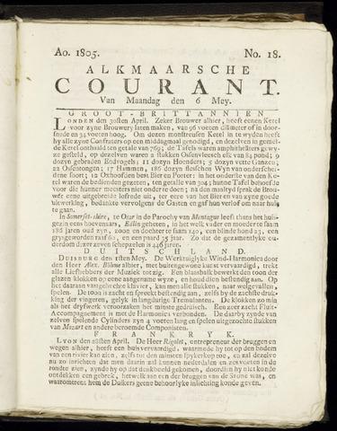 Alkmaarsche Courant 1805-05-06