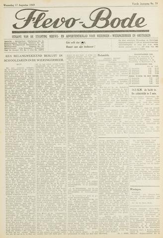 Flevo-bode: nieuwsblad voor Wieringen-Wieringermeer 1949-08-17
