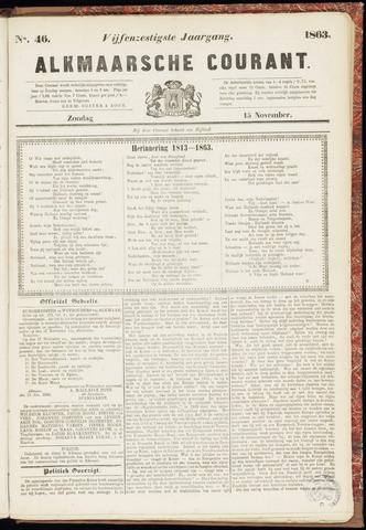 Alkmaarsche Courant 1863-11-15