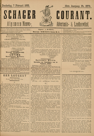 Schager Courant 1889-02-07