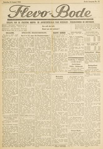 Flevo-bode: nieuwsblad voor Wieringen-Wieringermeer 1948-01-24