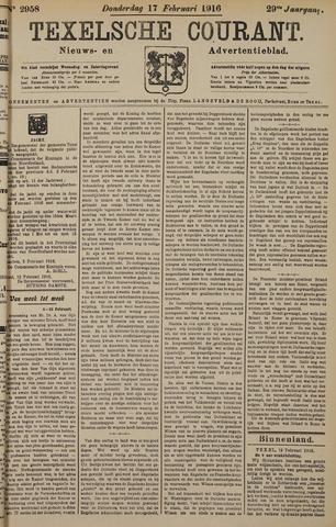 Texelsche Courant 1916-02-17