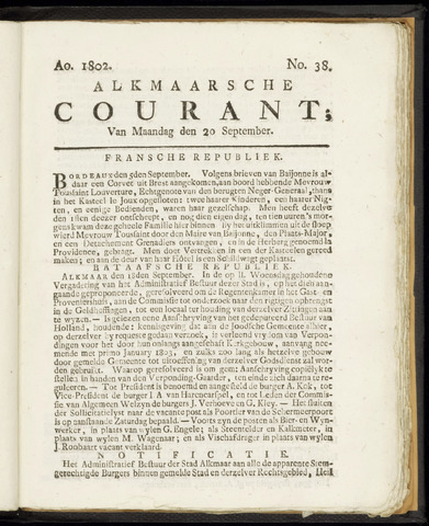 Alkmaarsche Courant 1802-09-20