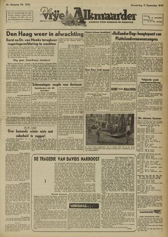 De Vrije Alkmaarder 1947-09-11