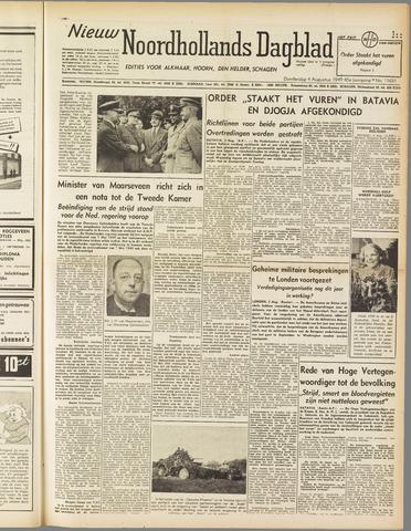 Nieuw Noordhollandsch Dagblad : voor Alkmaar en omgeving 1949-08-04