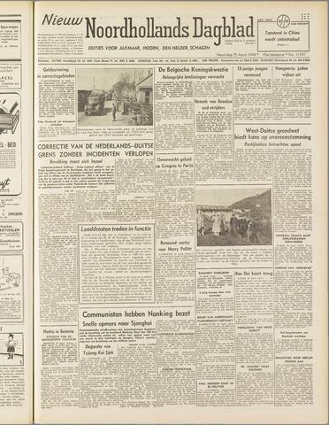 Nieuw Noordhollandsch Dagblad : voor Alkmaar en omgeving 1949-04-25