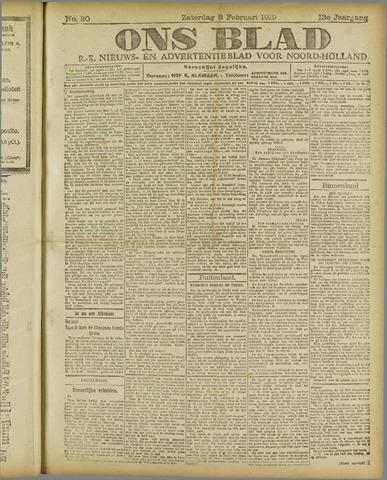 Ons Blad : katholiek nieuwsblad voor N-H 1919-02-08