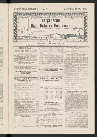 Bergensche bad-, duin- en boschbode 1926-07-31