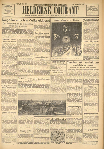 Heldersche Courant 1949-10-21