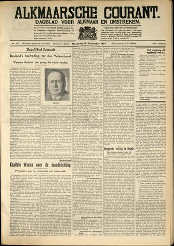 Alkmaarsche Courant 1934-09-12