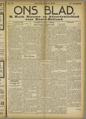 Ons Blad : katholiek nieuwsblad voor N-H 1908-07-18