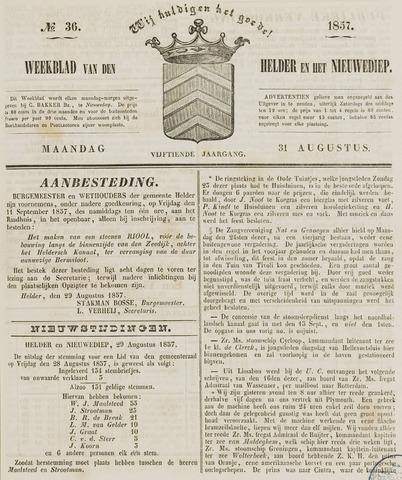 Weekblad van Den Helder en het Nieuwediep 1857-08-31