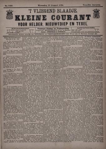 Vliegend blaadje : nieuws- en advertentiebode voor Den Helder 1884-01-23
