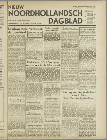 Nieuw Noordhollandsch Dagblad : voor Alkmaar en omgeving 1945-08-22