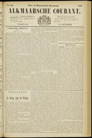 Alkmaarsche Courant 1892-11-11