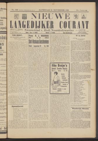 Nieuwe Langedijker Courant 1929-11-30