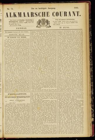 Alkmaarsche Courant 1884-06-22