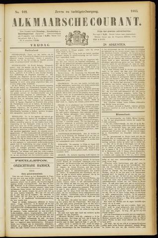Alkmaarsche Courant 1885-08-28