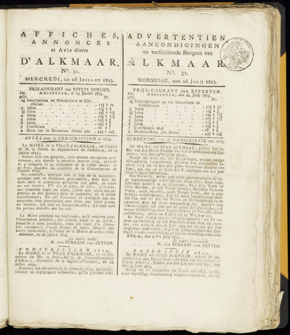 Alkmaarsche Courant 1813-07-28