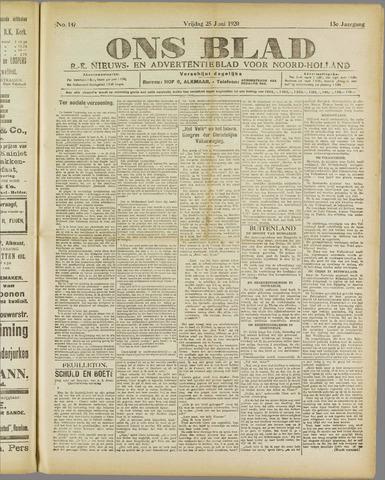 Ons Blad : katholiek nieuwsblad voor N-H 1920-06-25