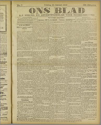 Ons Blad : katholiek nieuwsblad voor N-H 1919-01-10