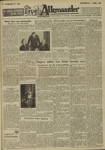 De Vrije Alkmaarder 1949-04-07
